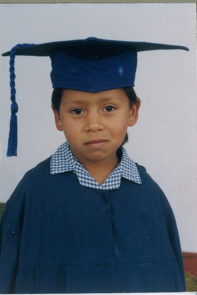 Enrique at his kindergarten graduation.