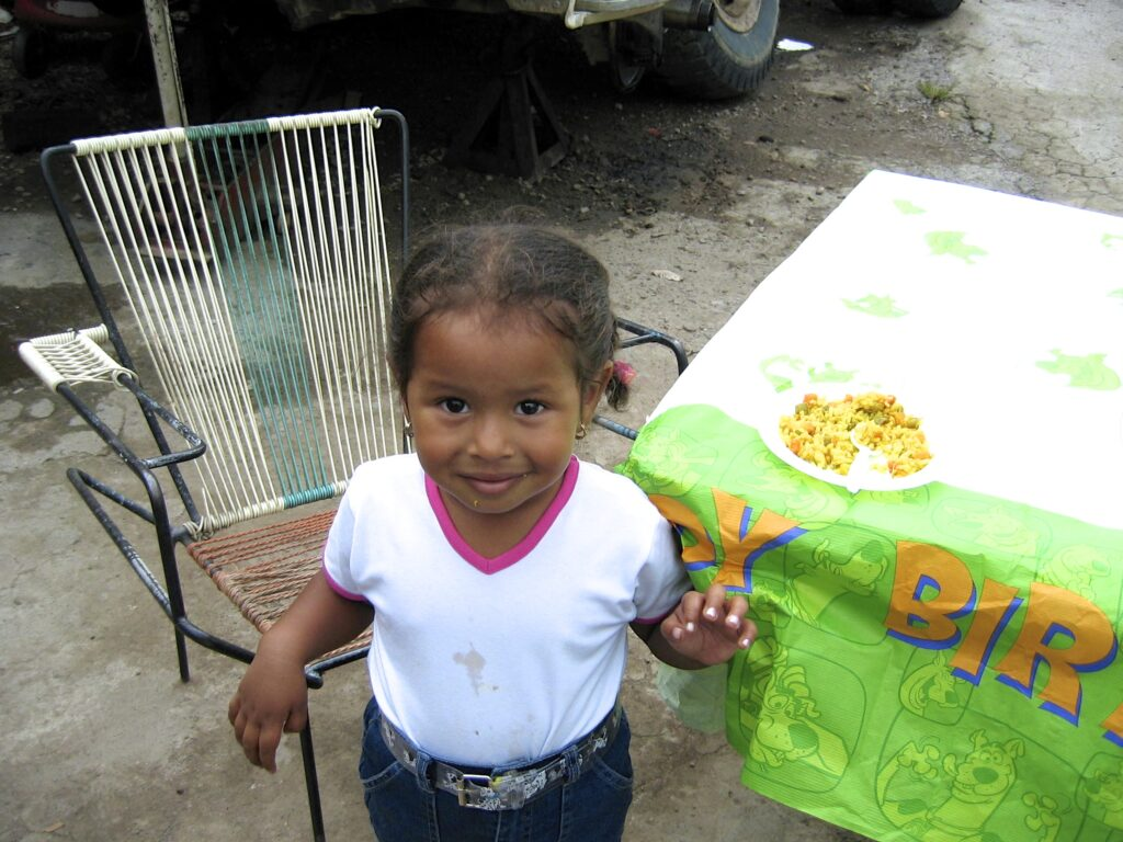 Enrique's daughter Jasmín, 3, in Tegucigalpa in 2003.
