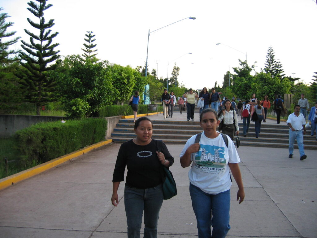 Enrique's sister Belky at the Tegucigalpa university where she studied in 2003.