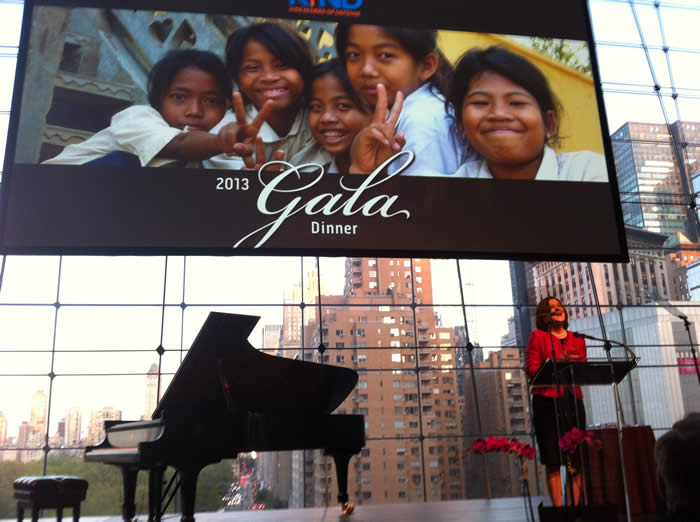 Victoria Kennedy introduces Sonia Nazario as keynote speaker for the April 2013 Gala Dinner for KIND