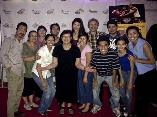 Sonia with the cast in October 2014.