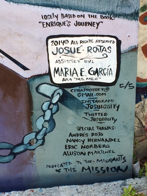 Artist Josue Rojas said Enrique's Journey inspired this mural in San Francisco's famed Balmy Alley.